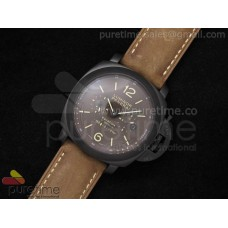 PAM365 Luminer Equation of Time PVD on Brown Asso Strap A2813