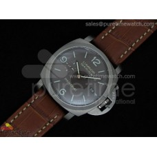 PAM351 M Best Edition on Brown Leather Strap