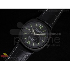 Radiomir Black Seal Automatic PVD Black Dial on Black Leather Strap A21J