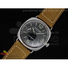 Radiomir Black Seal SS Black Dial on Brown Leather Strap A6497