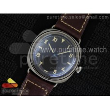 PAM448 O Sapphire SF California Dial on Thick Deep Brown Leather Strap P.3000 Super Clone