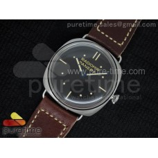 PAM449 O SF Batton Dial on Thick Deep Brown Leather Strap P.3000 Super Clone
