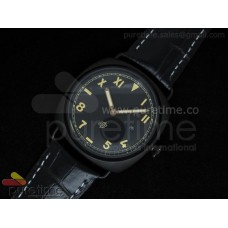 PAM424 California 3 Days PVD on Black Leather Strap